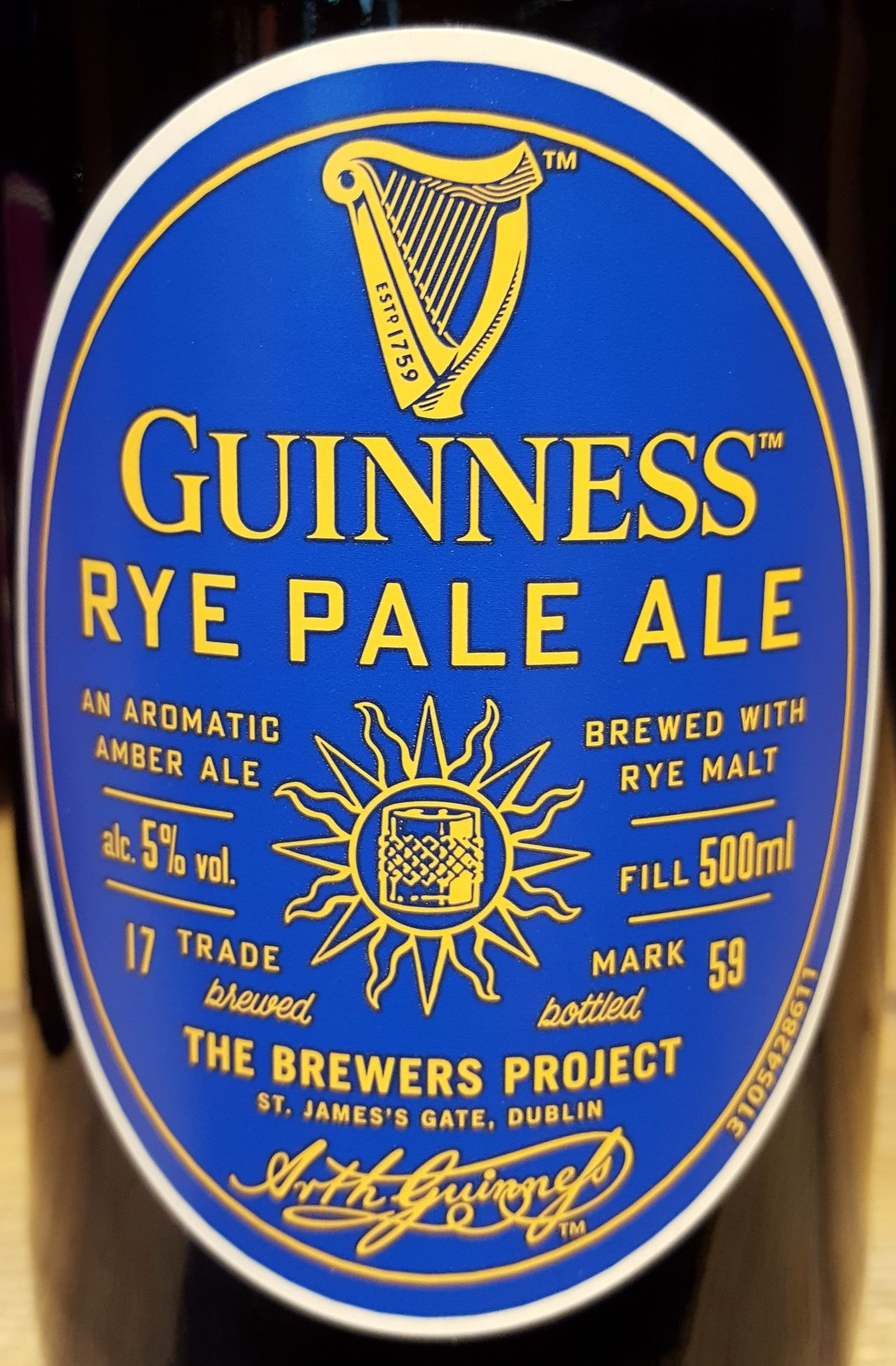 Guinness rye pale ale craft beer online shop by for Craft beer online shop